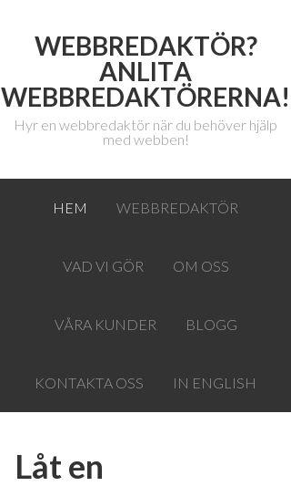 Mobile preview of webbredaktorerna.nu