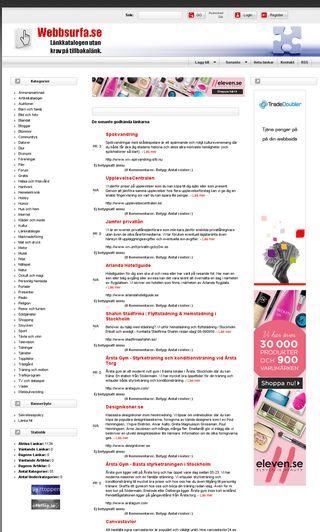 Mobile preview of webbsurfa.se
