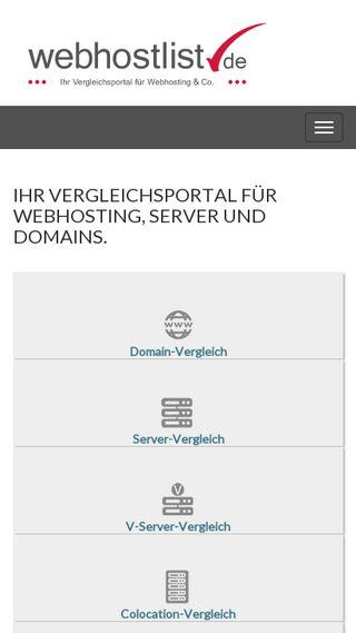 Mobile preview of webhostlist.de