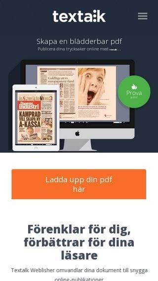 Mobile preview of weblisher.textalk.se