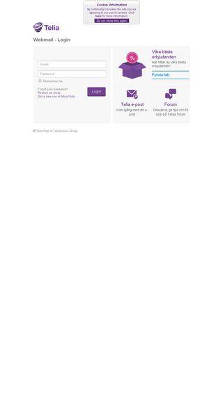 telia webmail login sverige