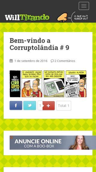 Mobile preview of willtirando.com.br