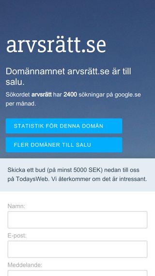 Mobile preview of arvsrätt.se