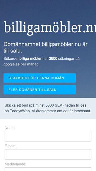 Mobile preview of billigamöbler.nu