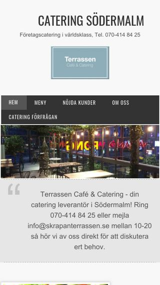 Mobile preview of cateringsödermalm.nu