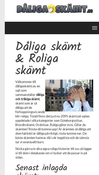 Mobile preview of dåligaskämt.se
