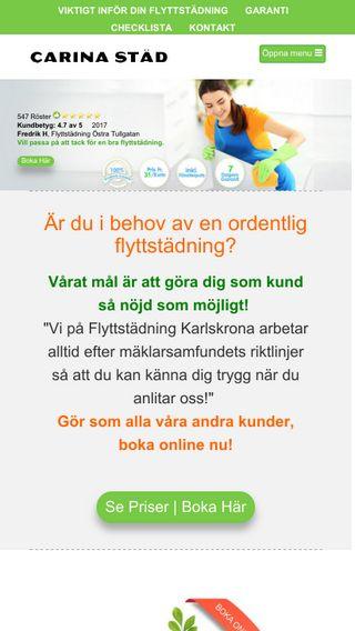 Mobile preview of flyttstädkarlskrona.se