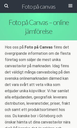 Mobile preview of fotopåcanvas.se
