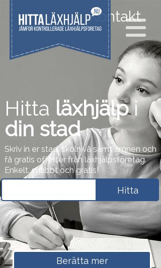 Mobile preview of hittaläxhjälp.nu
