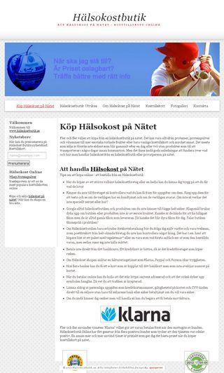 Mobile preview of hälsokostbutik.se