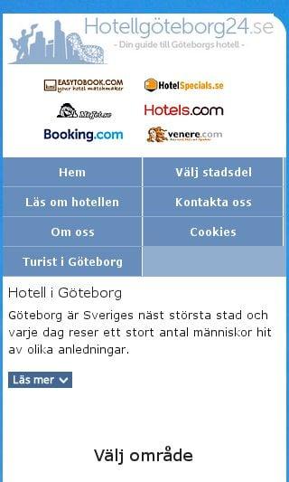 Mobile preview of hotellgöteborg24.se