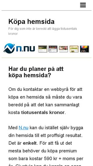 Mobile preview of köpahemsida.net