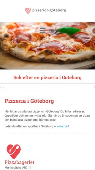 Mobile preview of pizzerior-göteborg.nu