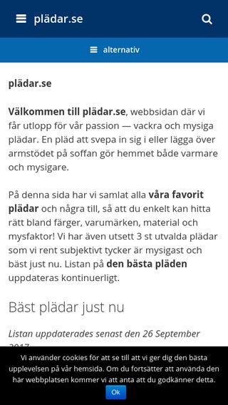 Mobile preview of plädar.se