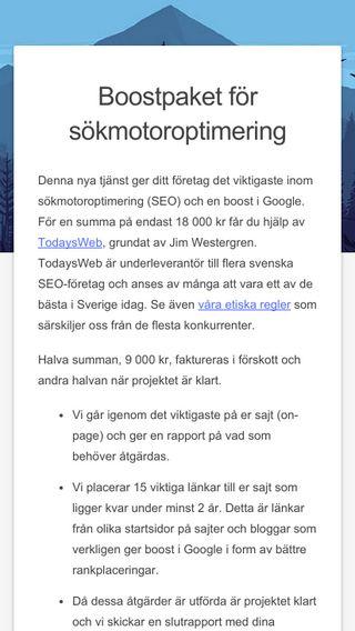 Mobile preview of sökmotoroptimering.nu