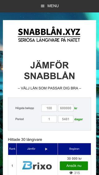 Mobile preview of snabblån.xyz