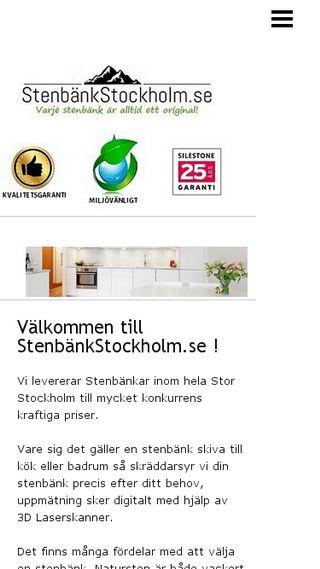 Mobile preview of stenbänkstockholm.se