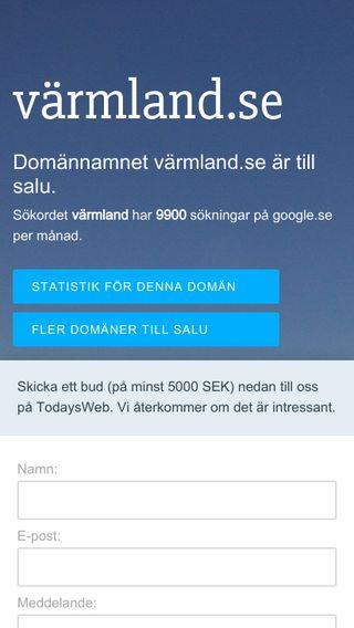 Mobile preview of värmland.se