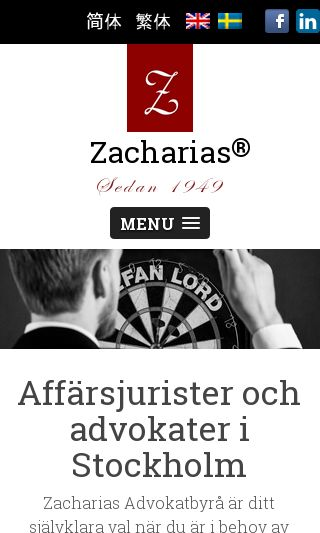 Mobile preview of zacharias.se