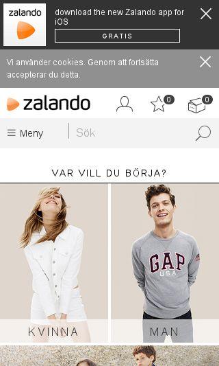 Mobile preview of zalando.se
