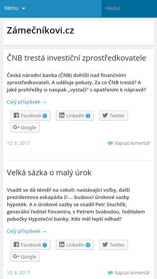 Mobile preview of zamecnikovi.cz
